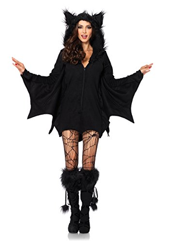 Leg Avenue Women's Cozy Bat adult sized costumes, Black, Medium US