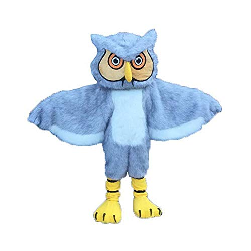 Owl Mascot Costume Adult Halloween Costume Grey