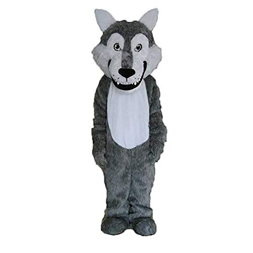 Grey Wolf Mascot Costume Adult Halloween Costume