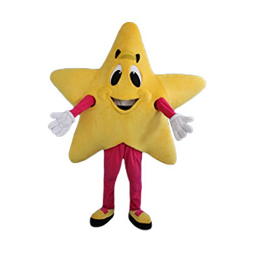 Langteng Yellow Star Mice Mascot Costume Character Adult Sz Real Picture Cartoon