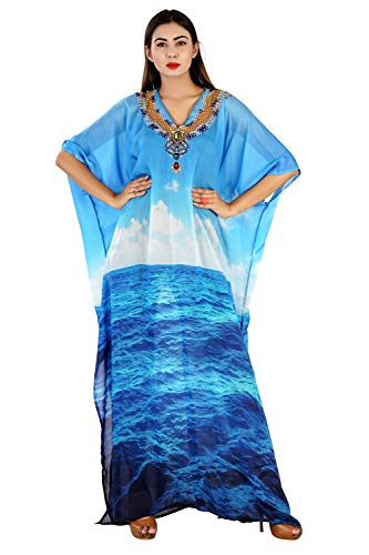 Silk kaftan Embrace Your Grace with This Bright and Beach Style for Women 316