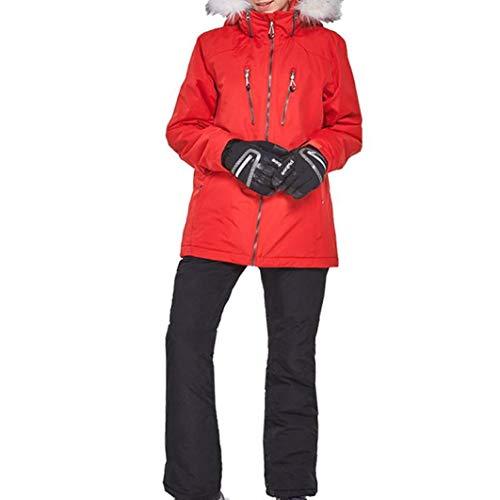 Sport Snowboard Ski Suit Women Skiing Waterproof Snowproof Warm Set Fur Collar Cotton Padded Snow Jacket Pants