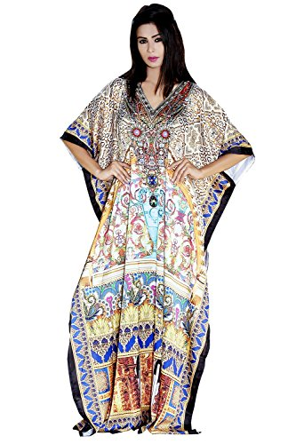 Silk kaftan Beautiful one Piece Jeweled Resort wear Beach Coverup Kaftan Dress 99s