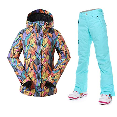 Women Ski Suits Winter Outdoor Ski Wear Waterproof Breathable Skiing Jacket Pants Warmth Snowboard Sets Beige