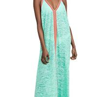 Pitusa Women's Sun Maxi Dress, Mint, Green, One Size