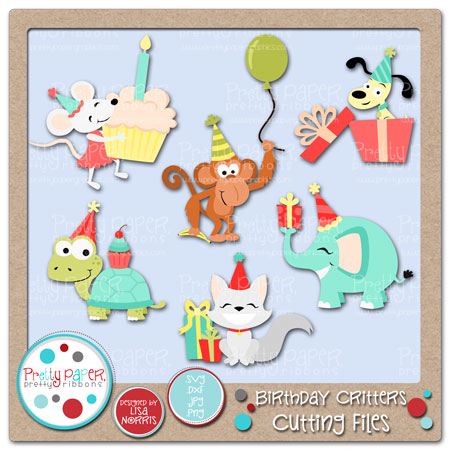 Birthday Critters Cutting Files