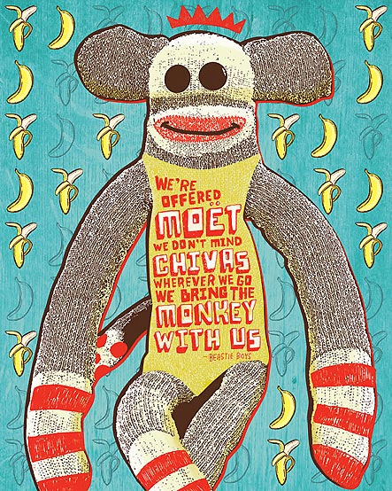 Bring The Monkey With Us 16 x 20 giclée art print from Giggle Box Design