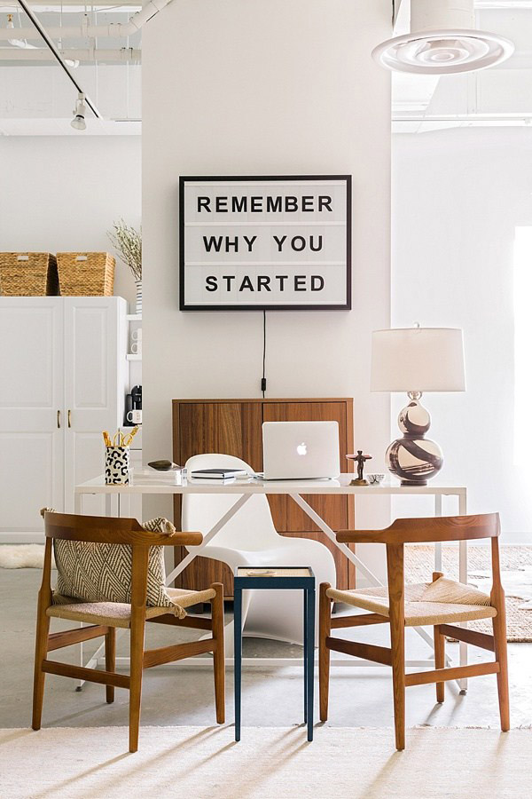 I Really Like This Weeku0027s Office Inspiration (from Waiting On Marthau0027s One  Room Challenge). The Space Is Simple, Neat And Uncluttered U2013 Pretty Much  The ...