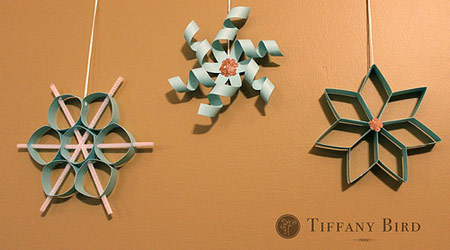 Twirly Paper Snowflake Tutorial from Simply Modern Mom