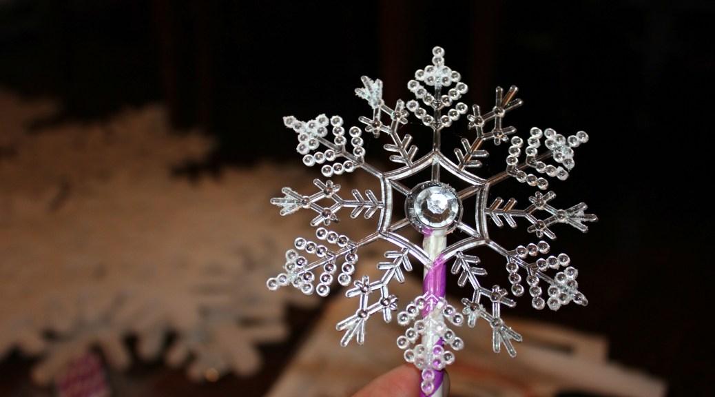 diy snowflake wand