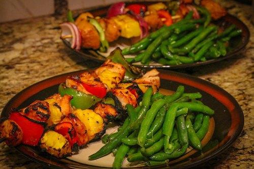Pretty Pure Taste The Rainbow Chicken Kabobs