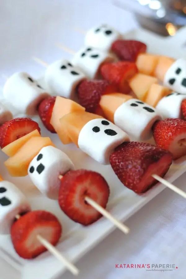 Ghost Fruit Kabobs Finger Food