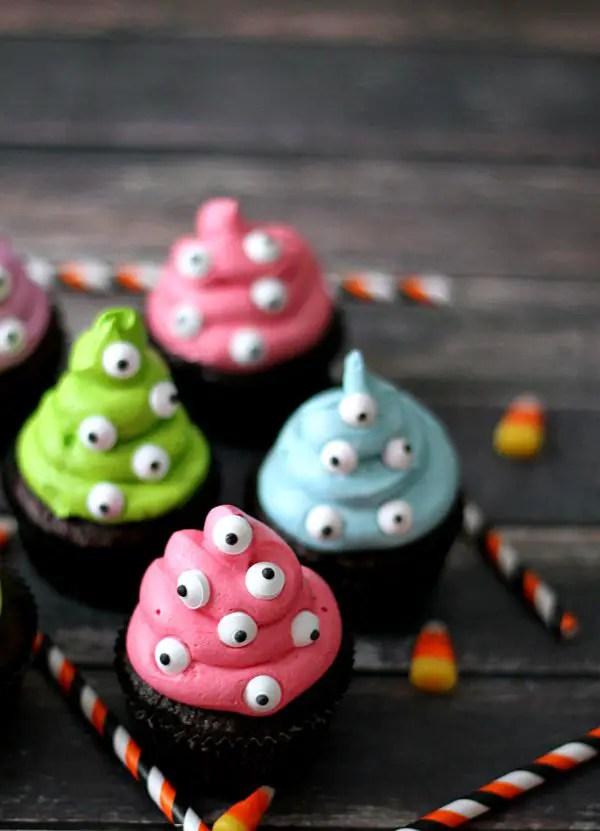 Monster Cupcakes Halloween Finger Food