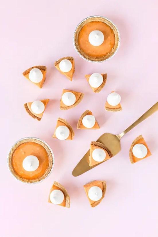 kids thanksgiving party ideas pumpkin pie fudge