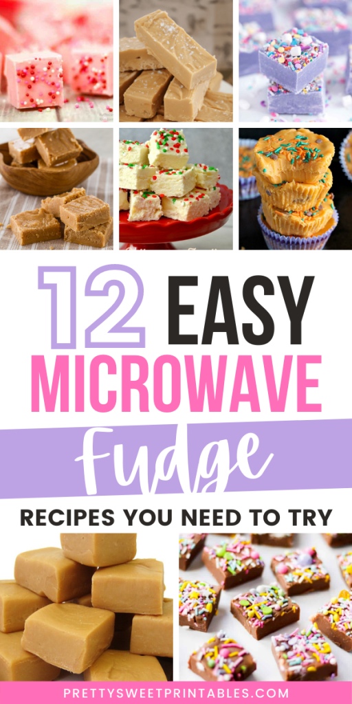 Pinterest pin for 12 Easy Microwave Fudge Recipes