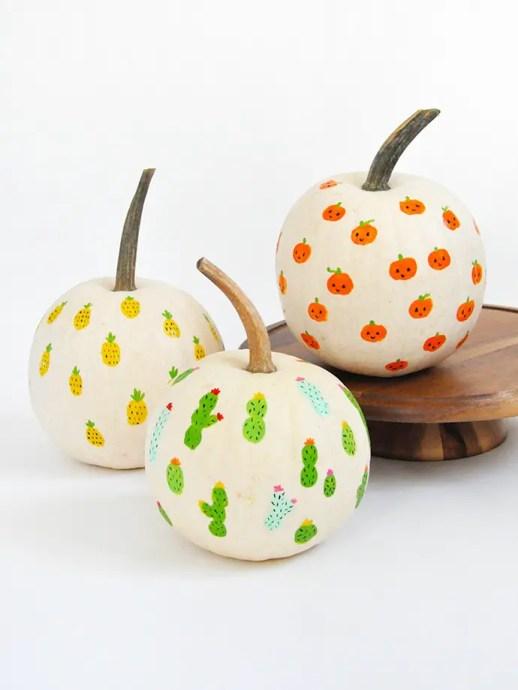 Fingerprint Art Pumpkins
