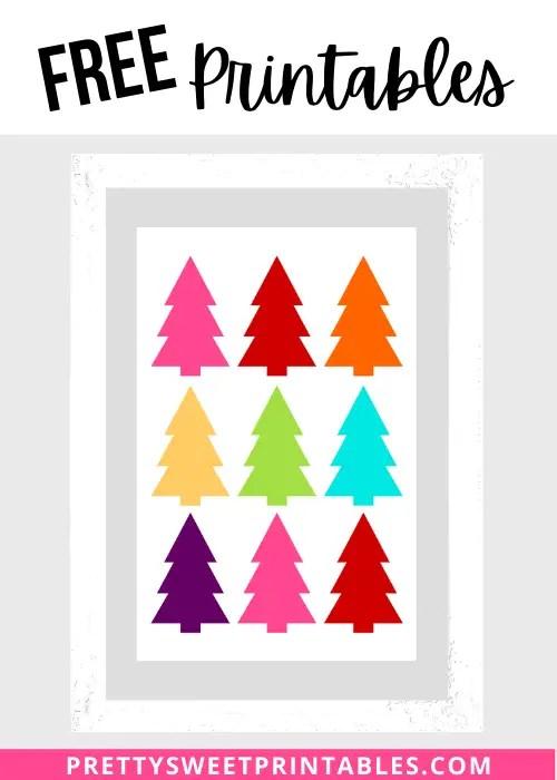 Free Christmas Trees Printable