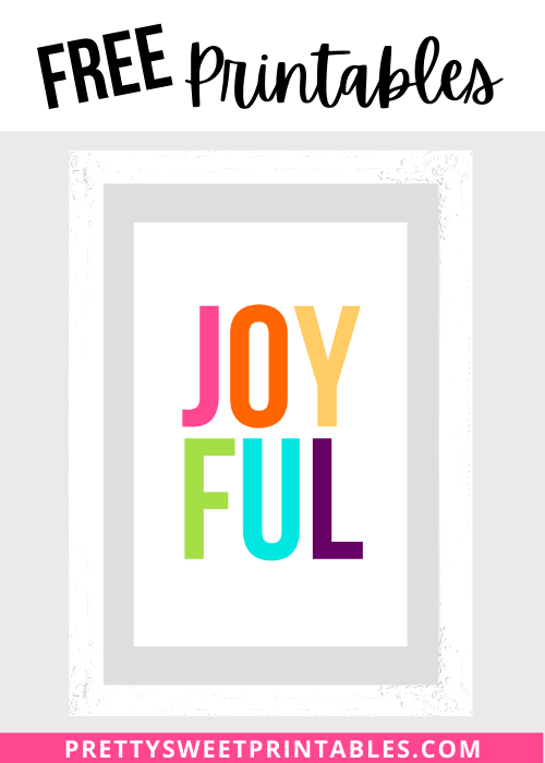 Joyful Christmas Printables