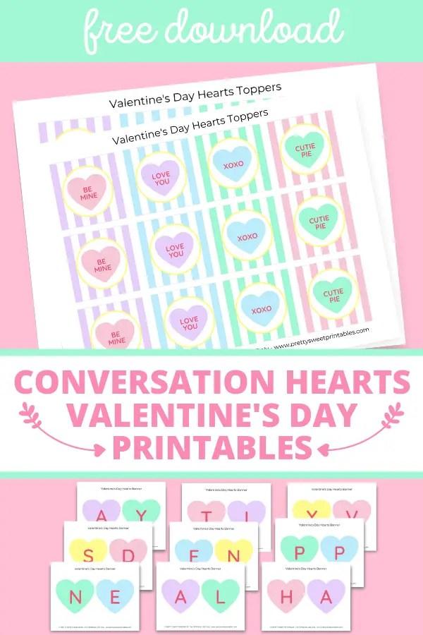 conversation hearts printables pinterest pin