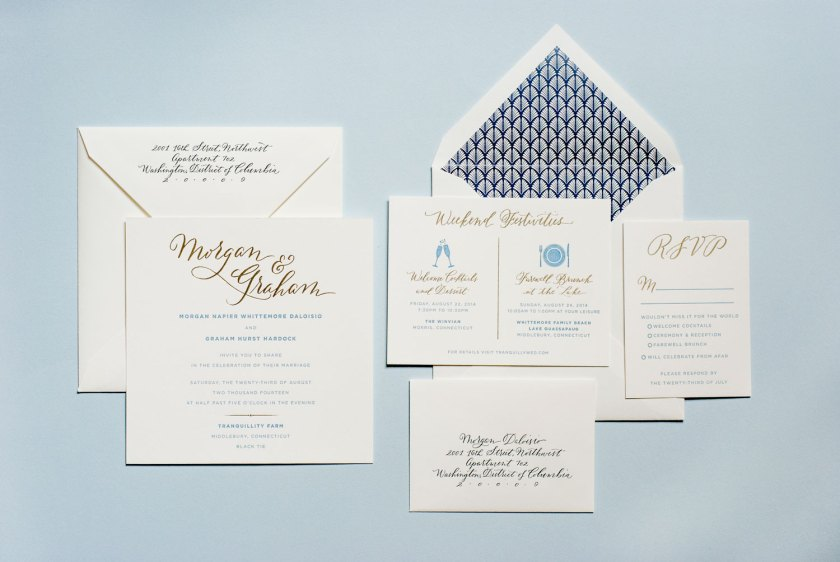 Hand Drawn Calligraphic Wedding Invitation Suite Rsvp And Envelopes From 1440