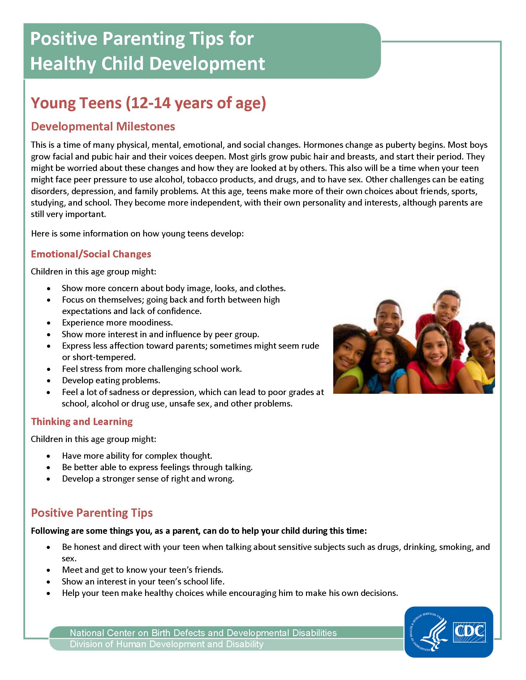 Website Positive Parenting Tips For Young Teens 12 14 Page 1