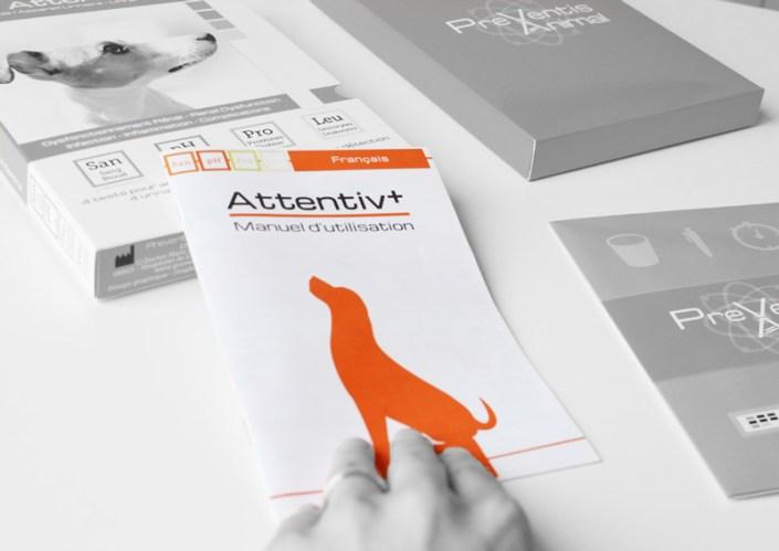 Manuel d'utilisation du test de santé pour chien Attentiv+ contrôle de l'appareil urinaire