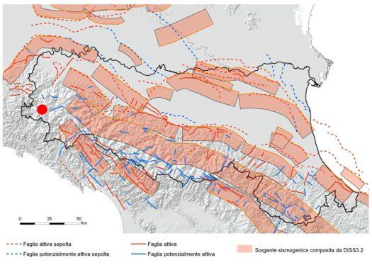 Zone sismogeniche Emilia Romagna