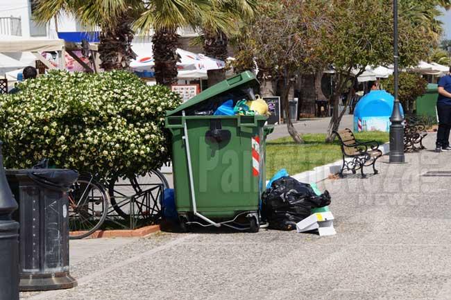 Πρέβεζα: Απομακρύνονται οι κάδοι απορριμμάτων από την παραλιακή λόγω γιορτών και Πρωτομαγιάς_5e067984cc2b0.jpeg