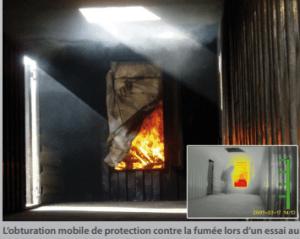 Système d obturation mobile ,empêche la propagation des fumées et de la chaleur Complément idéal à la ventilation par pression positif