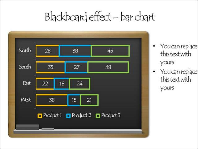 Black Board With Hand Drawn Effect Chart