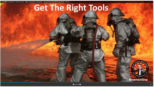 Creative Analogy in PowerPoint Firefighting