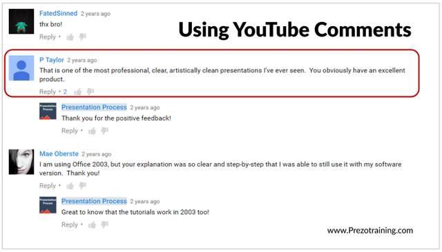 Using Youtube Tesimonials