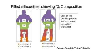PowerPoint Percentage Comparison Charts