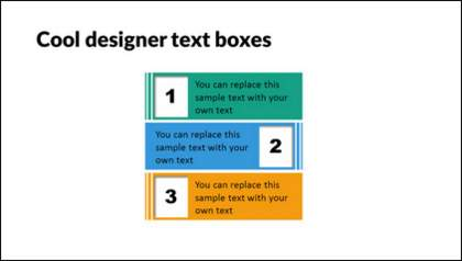 Cool Designer PowerPoint Text Boxes