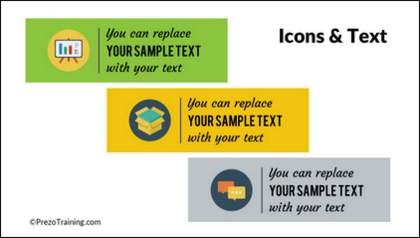 Icons and Text in PowerPoint