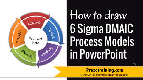 How to Draw 6 Sigma DMAIC Process Models in PowerPoint
