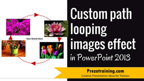 Custom Path Looping Images Effect in PowerPoint 2013