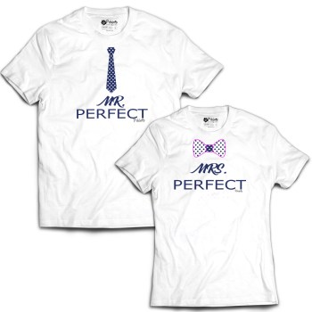 a2d7de8c Mr Perfect And Mrs Perfect Couple T-shirt