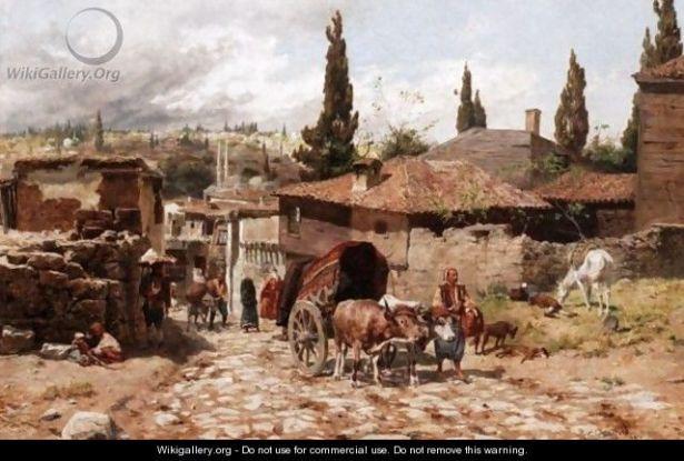 Rudolf Otto Ritter von Ottenfeld - Prizor sa ulice na Balkanu (wikigallery.com)