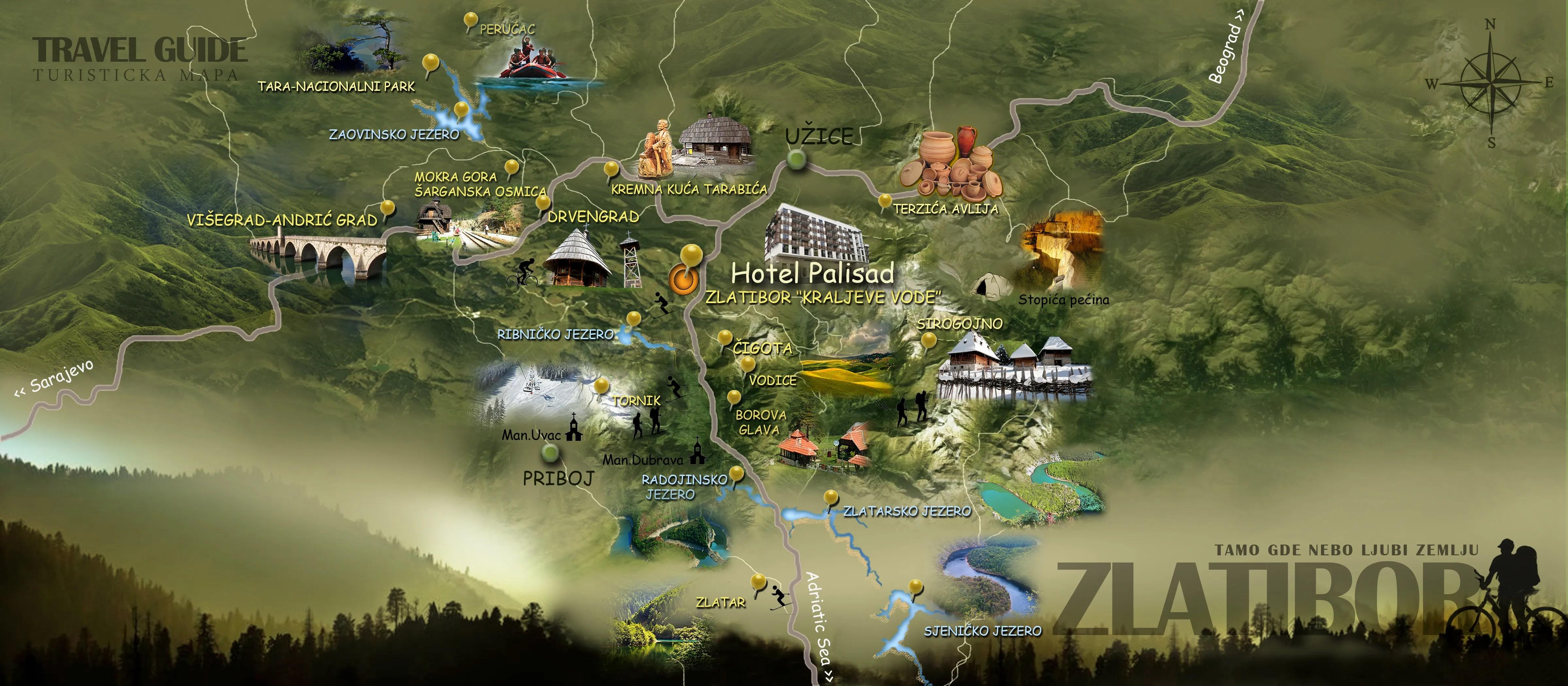 zlatibor mapa zlatibor mapa | Priboj 033 zlatibor mapa