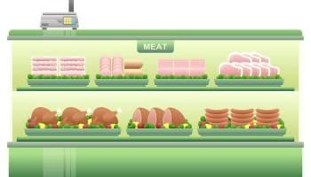 Maso v prodejním regálu