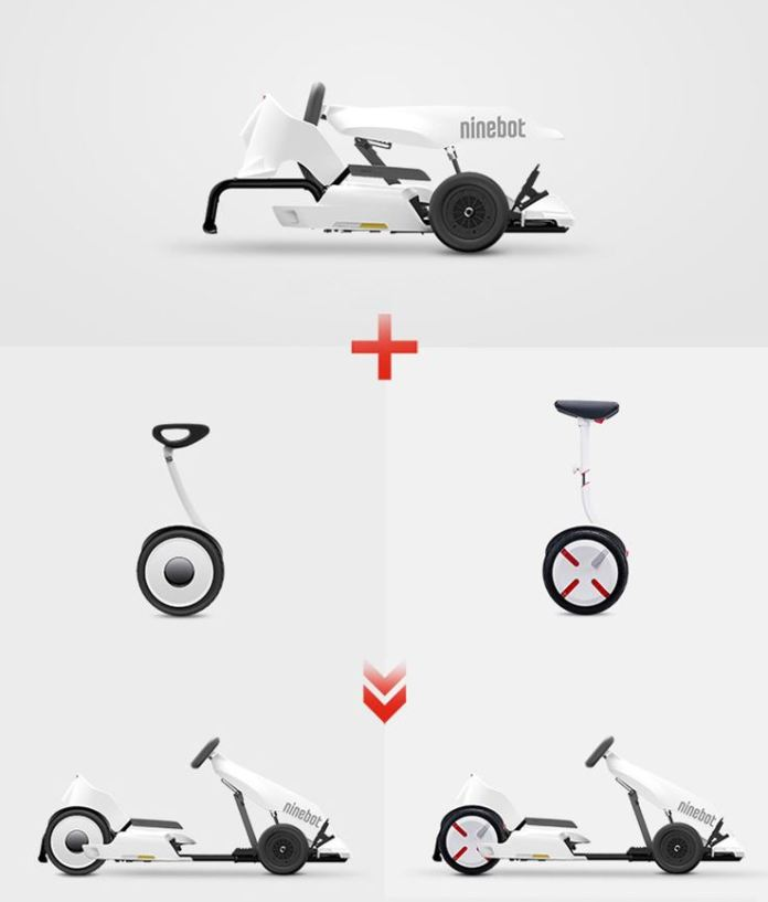 This is how the new Ninebot kart works, which you can now buy