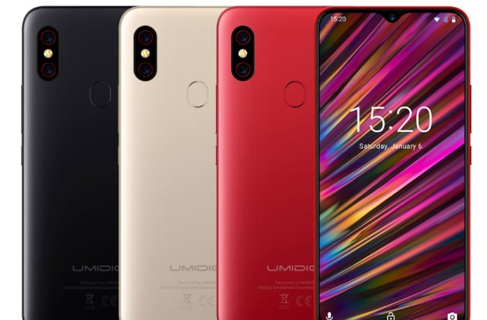The umidigi f1 has three colors: Black, Red, Gold