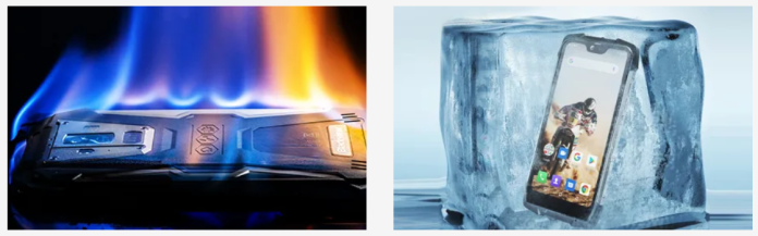 BV9700 Pro burns under alcohol and freezes in ice cubes