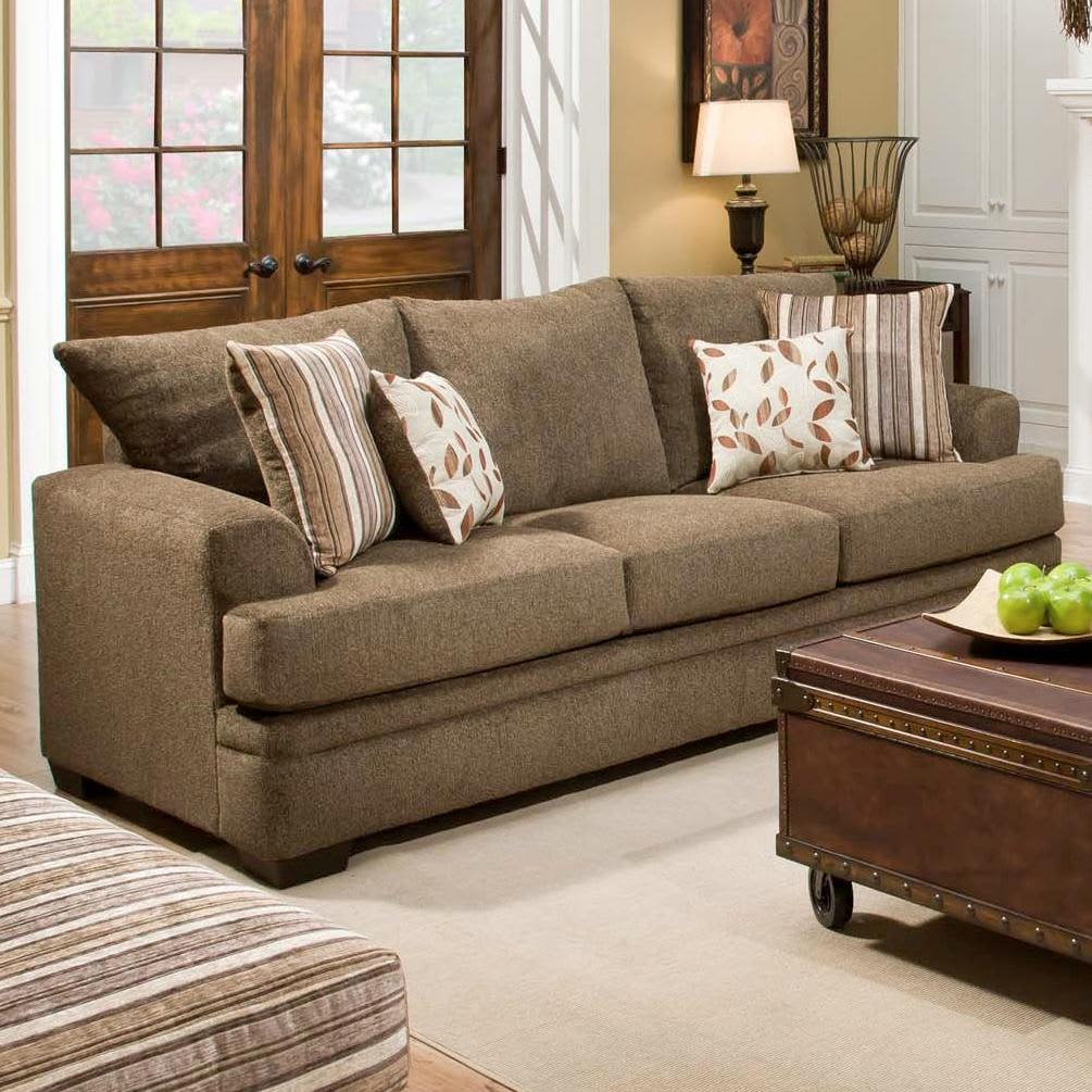 American Furniture 3653-1661 Cornell Cocoa Sofa