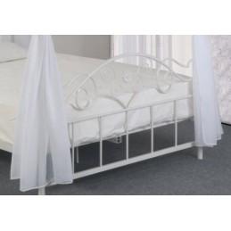 lit adulte enfant baldaquin aurelie sommier couchage 140x200 cm ideal pour une touche royale a votre chambre a coucher