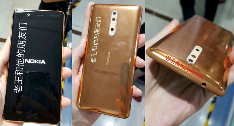 Nokia 8 Gold Copper Color Variant Images Leaked: Check Them Here