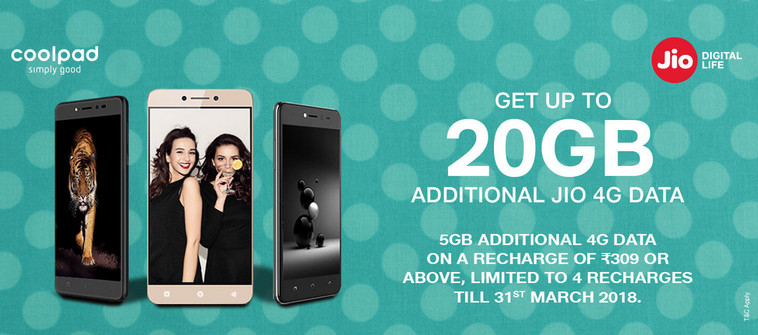 Jio Coolpad Offer