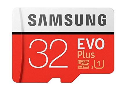 Samsung EVO+ 32GB Class 10 MicroSD Card