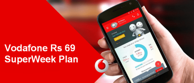Vodafone 69 Plan Details Recharge SuperWeek Activate